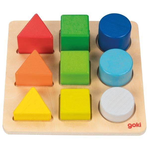 Goki, Colour and Shape Assorting Board