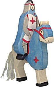 Holztiger Blue Knight with Cloak, Riding