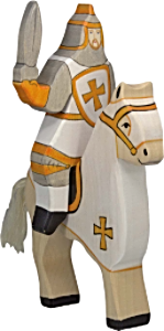Holztiger Tournament Horse, White