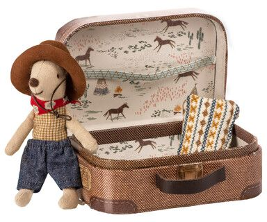 Maileg Cowboy in Suitcase
